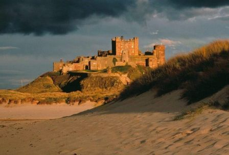 9 nights Newcastle to Edinburgh coast and castles Bamburgh Castle in the evening light