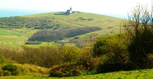 5 nights Cycling the South Downs Way in England Beachy Head Lighthouse