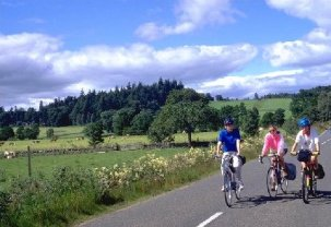4 nights Cycling the 4 Abbeys route in the borders of Scotland. Riding through beautiful countryside