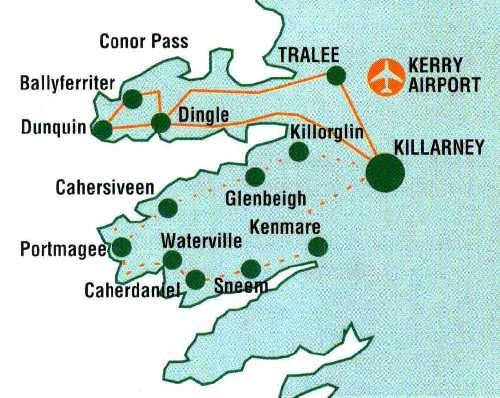 5 nights ireland self-guided bike tour county kerry. our biking tours of the kerry coast from killarney area, county Kerry, ireland