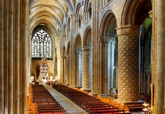 6 nights Biking England's Cathedrals York to Durham, Inside Durham Cathedral