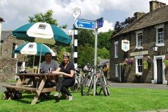 5 nights Cycle C2C Whitehaven - Newcastle across England, The Pub at Garrigill