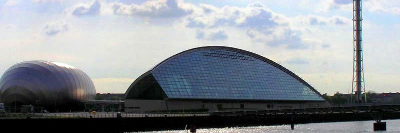 7 nights cycling Lochs and Glens Glasgow to Carlisle. Glasgow across the Clyde to the science centre