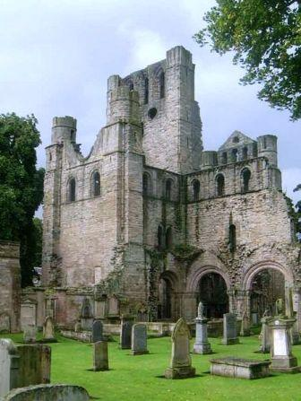 4 nights cycling the 4 Abbeys route in the borders of Scotland. The back of Kelso Abbey