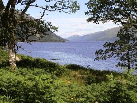 5 night Bike Tour from Fort William to Inverness Scotland. View over Loch Lochy