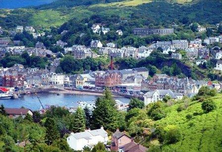 7 nights Cycling the West Coast of Scotland. Oban the gateway to the Western Isles