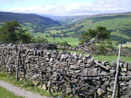 2 nights Cycling in the Yorkshire Dales, a view of Swaledale
