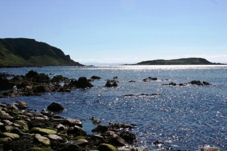 7 nights Cycling the West Coast of Scotland. View across to one of many Islands