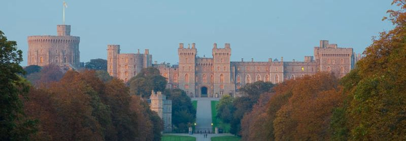5 nights Cycling in Thames Valley London to Oxford, Windsor Castle in the evening sunlight