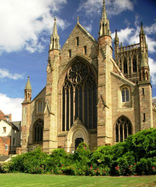 7 nights Cycling England Cotswolds and Severn Vale. Worcester Cathedral
